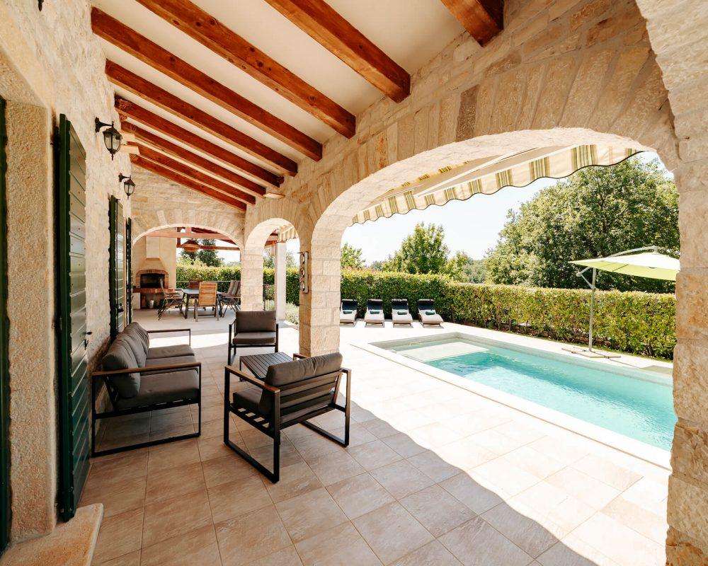 Villa Dracena Loungemöbel Ansicht